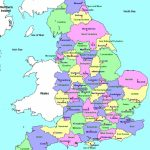 Detailed Administrative Map Of England | Travel | England Map, Map In Printable Map Of Britain