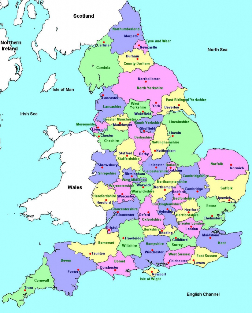 Detailed Administrative Map Of England | Travel | England Map, Map inside Printable Map Of Uk Cities And Counties