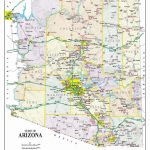 Detailed Arizona Map | Maps In 2019 | Printable Maps, Map, Arizona Throughout Printable Map Of Tucson Az
