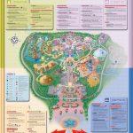 Detailed Map Of Hong Kong Disneyland Resort ? Four Themed Lands Intended For Printable Disneyland Park Map