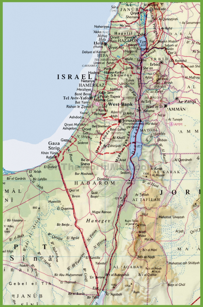 Detailed Map Of Israel With Cities in Free Printable Map Of Israel