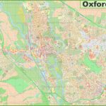 Detailed Map Of Oxford Pertaining To Printable Map Of Oxford