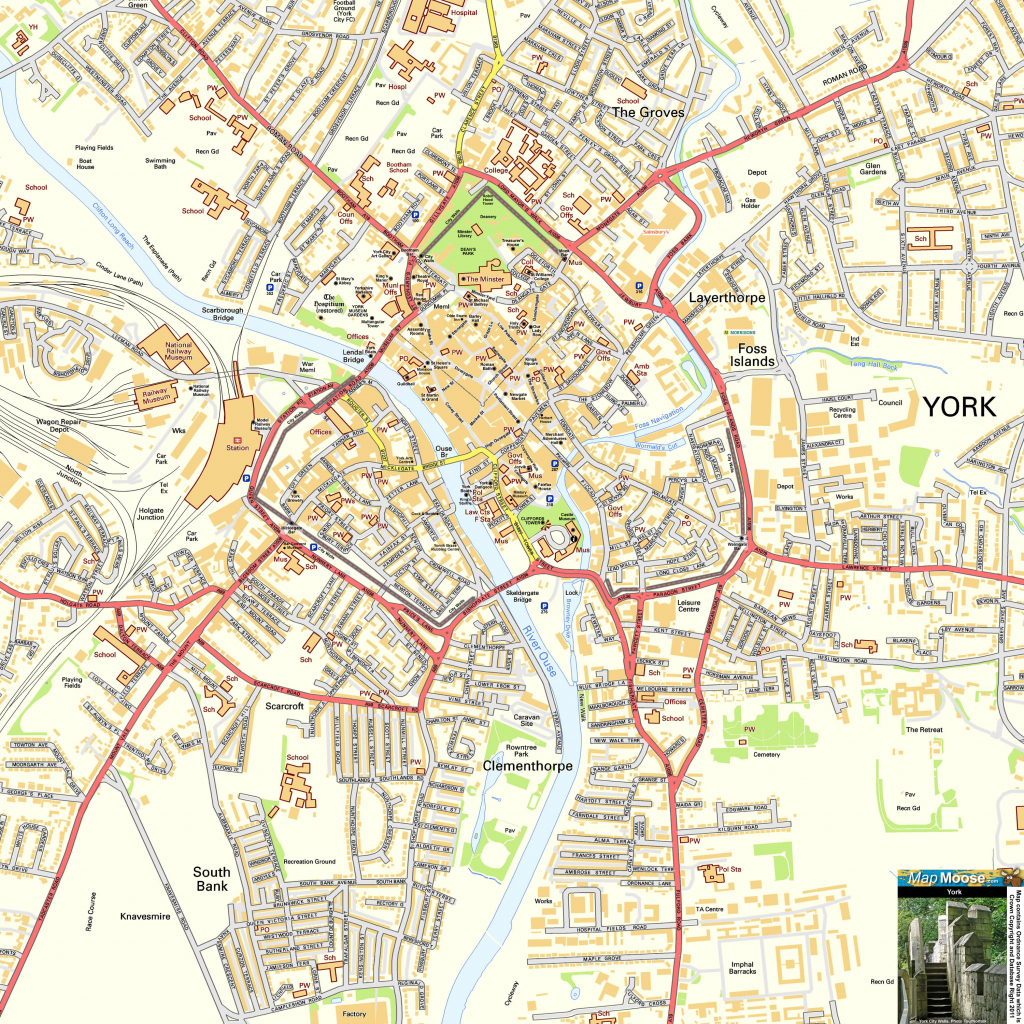 Detailed Map Of York City Centre | Download Them And Print intended for York Street Map Printable