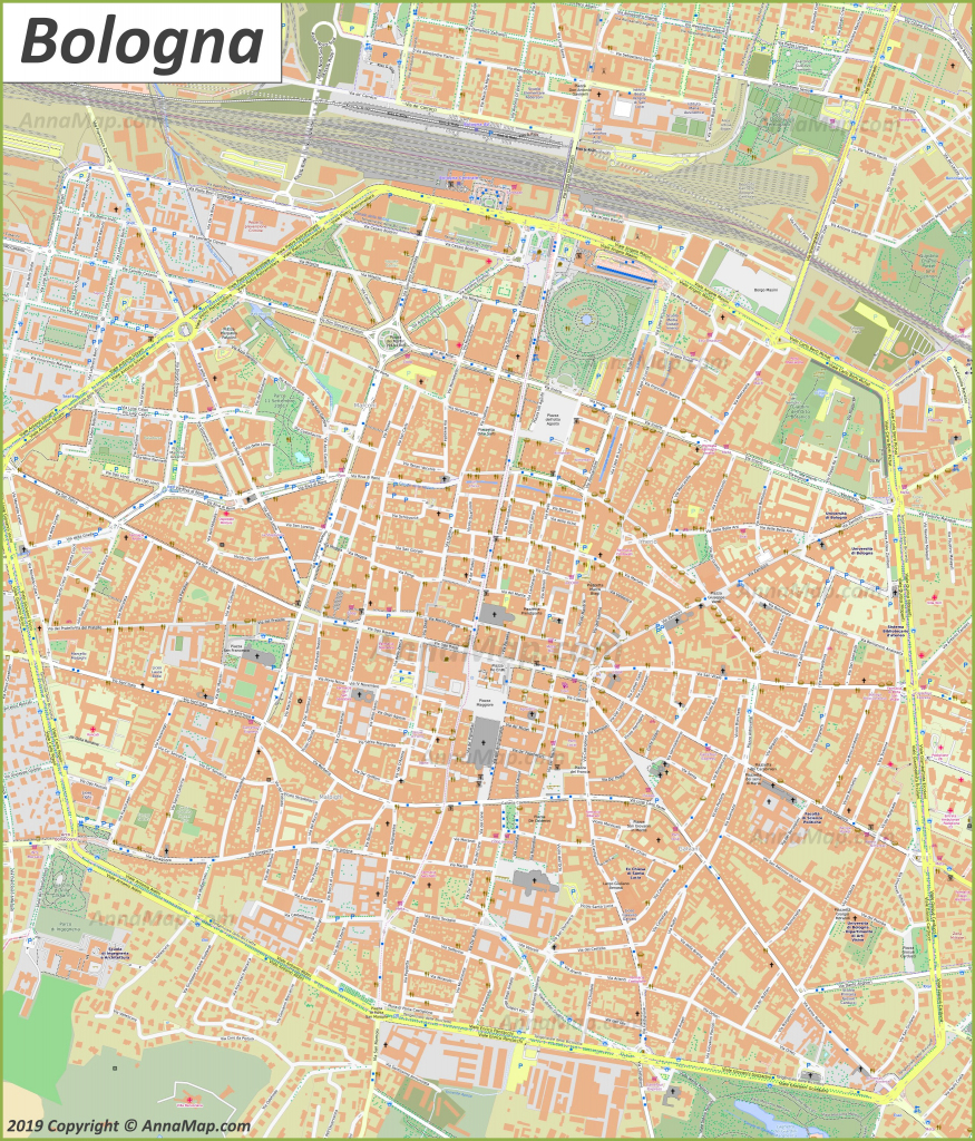 Detailed Tourist Maps Of Bologna | Italy | Free Printable Maps Of within Bologna Tourist Map Printable