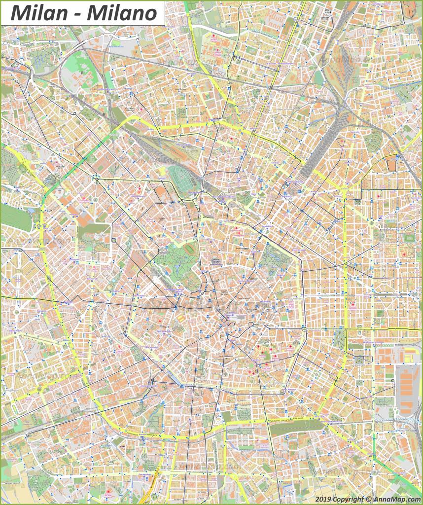 Detailed Tourist Maps Of Milan | Italy | Free Printable Maps Of regarding Printable Map Of Milan
