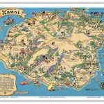 Details About Hawaii Island Map Kauai   White   1941 Vintage Travel Within Printable Map Of Kauai