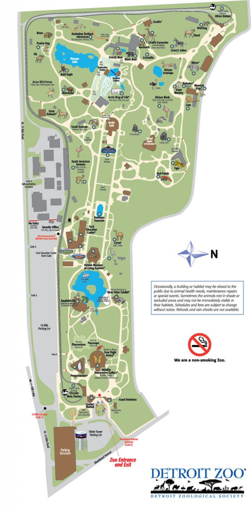 Detroit Zoo Map | Detroiter Not A Detracter. | Zoo Map, Detroit Zoo with regard to Printable Detroit Zoo Map