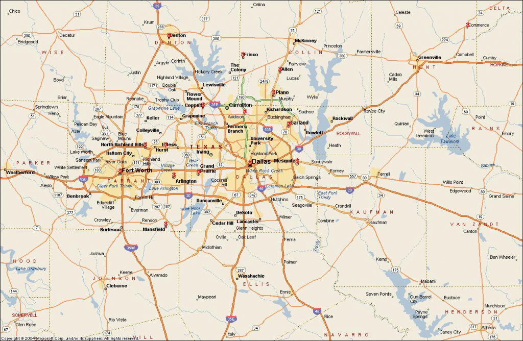 Dfw Metroplex Map - Dallas Fort Worth Metroplex Map (Texas - Usa) inside Printable Map Of Dallas Fort Worth Metroplex