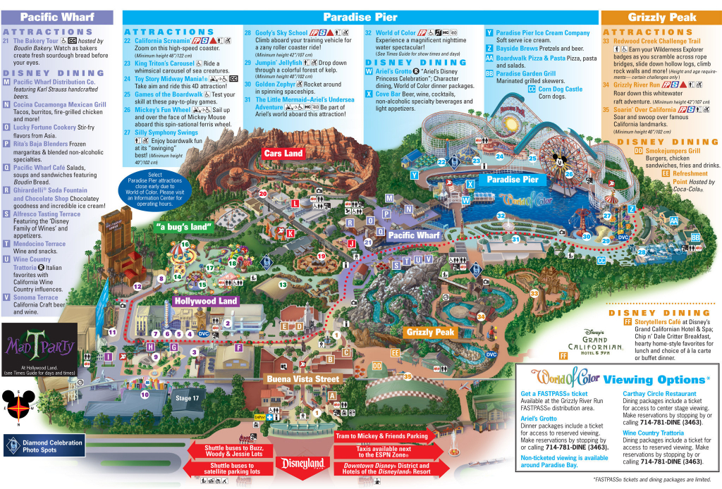 Disney California Adventure Map Pdf Outline Printable Map Disneyland in Printable California Adventure Map
