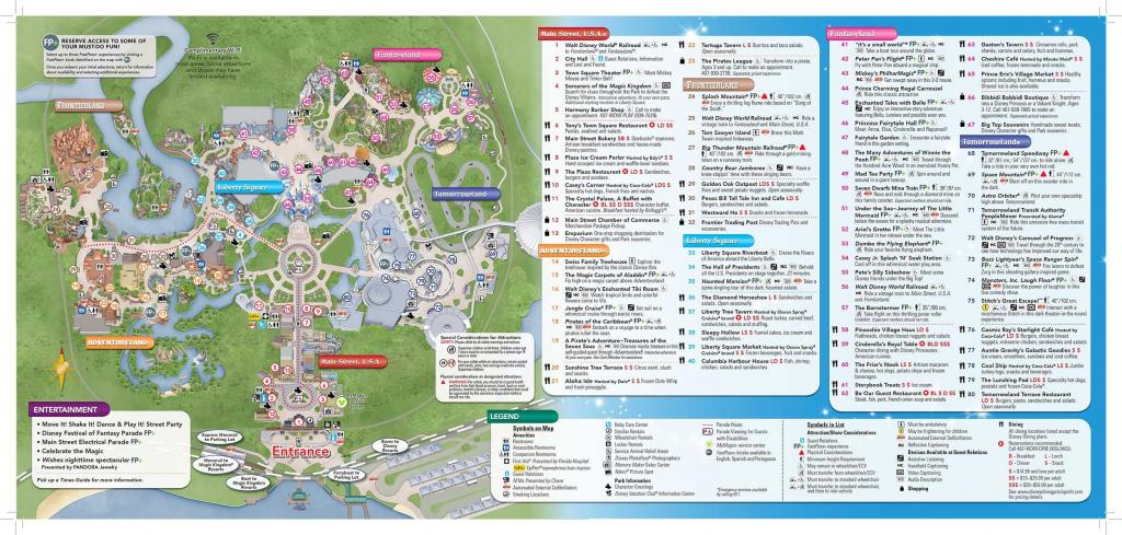 Disney-Magic-Kingdom-Map In 2019 | Virtual Magic Kingdom | Disney pertaining to Printable Magic Kingdom Map