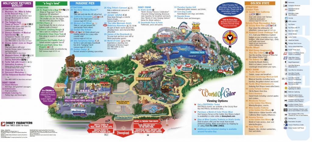 Disney Map California Road Map Disneyland Park Map California within Printable Disneyland Map 2014