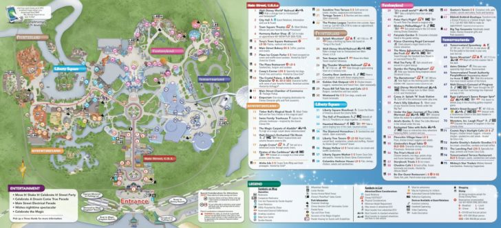 Printable Maps Of Disney World Theme Parks