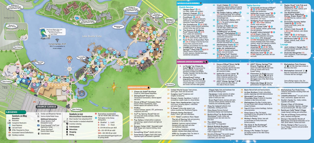 Disney Springs: Lojas, Restaurantes E Muito Mais | Places | Disney with Disney Springs Map Printable
