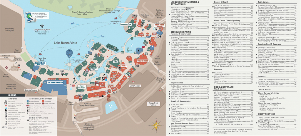 Disney Springs Map - Walt Disney World intended for Disney Springs Map Printable