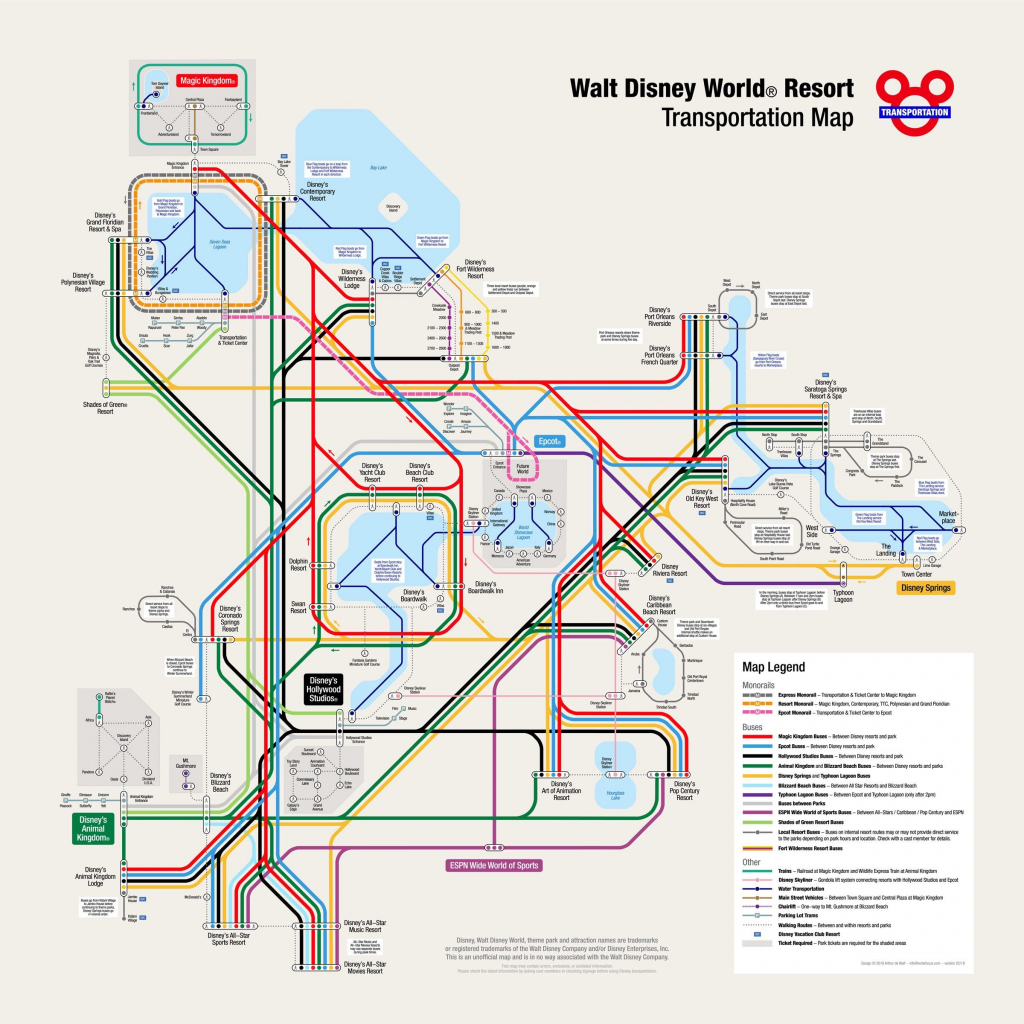 Disney Transportation Map! : Waltdisneyworld inside Disney Springs Map Printable