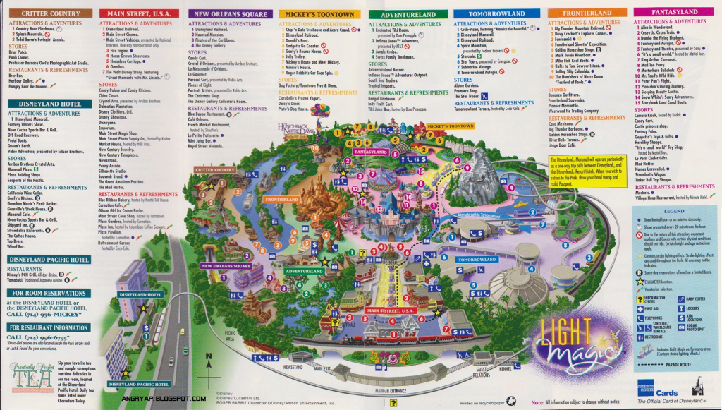 Disneyland Guide Map From Map Of California Springs Printable Map Of with regard to Printable Map Of Disneyland California