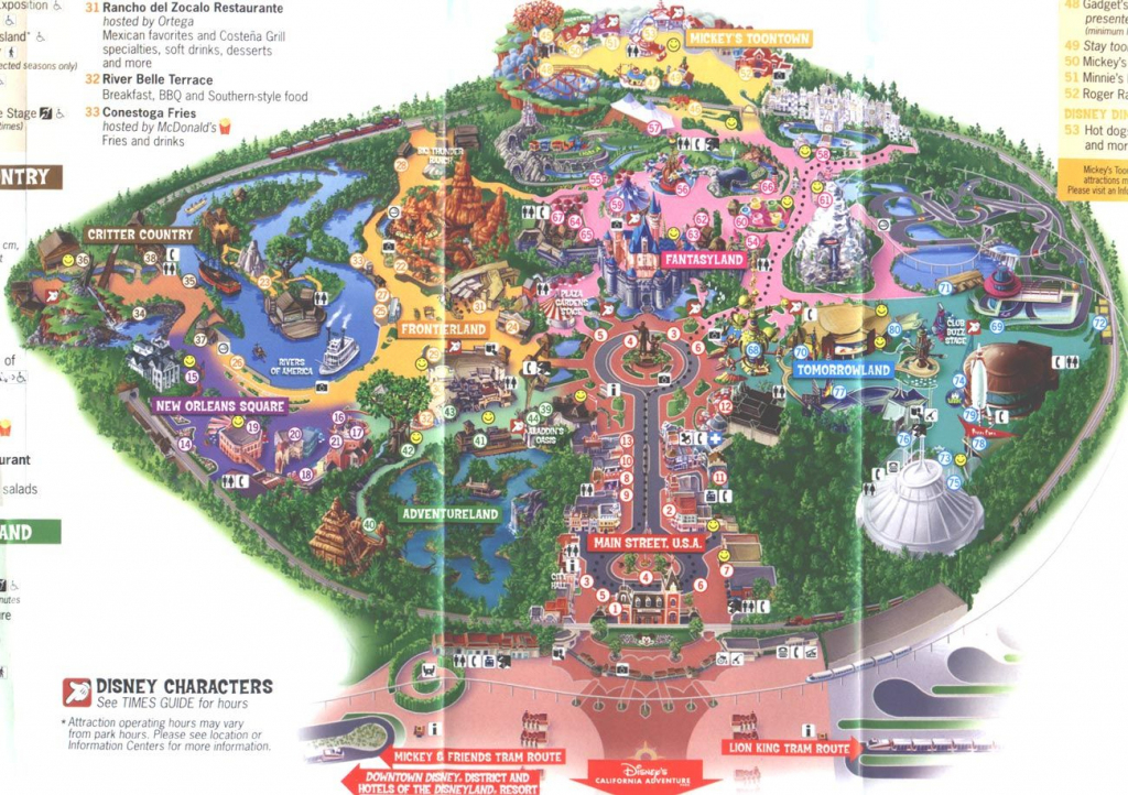 Disneyland Map 2006 | Places I've Been And Loved | Disneyland intended for Printable Disneyland Map 2014