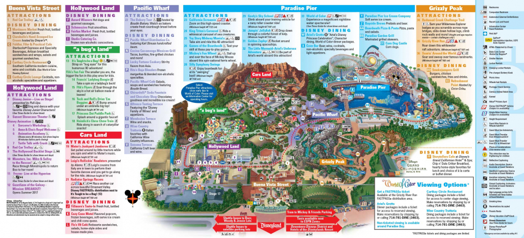 Disneyland Park Map In California, Map Of Disneyland - California in Printable Disneyland Park Map