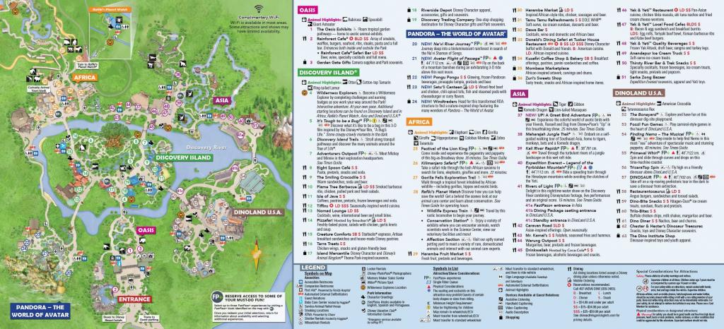 Disney's Animal Kingdom Map Theme Park Map | Dinsey Vaca In 2019 inside Walt Disney World Park Maps Printable