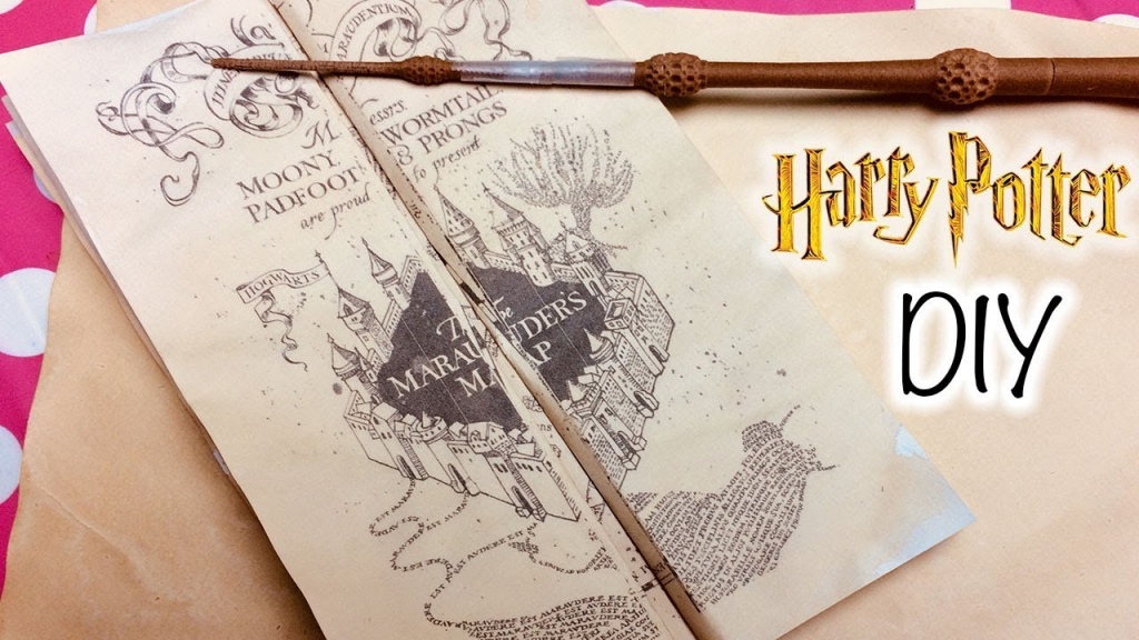 Diy Harry Potter Marauder's Map Printable And Parchment Easy Diy within Harry Potter Marauders Map Printable