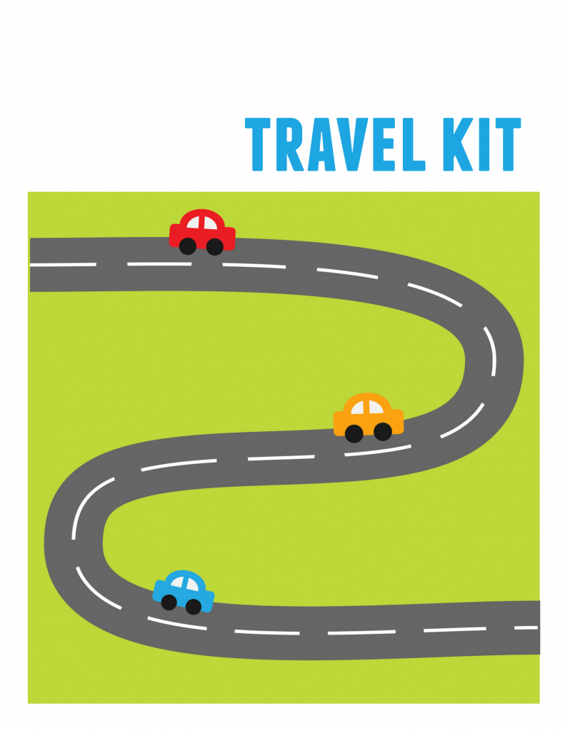 Diy Kids' Travel Binder + Free Printable Road Trip Games for Printable Road Maps For Kids