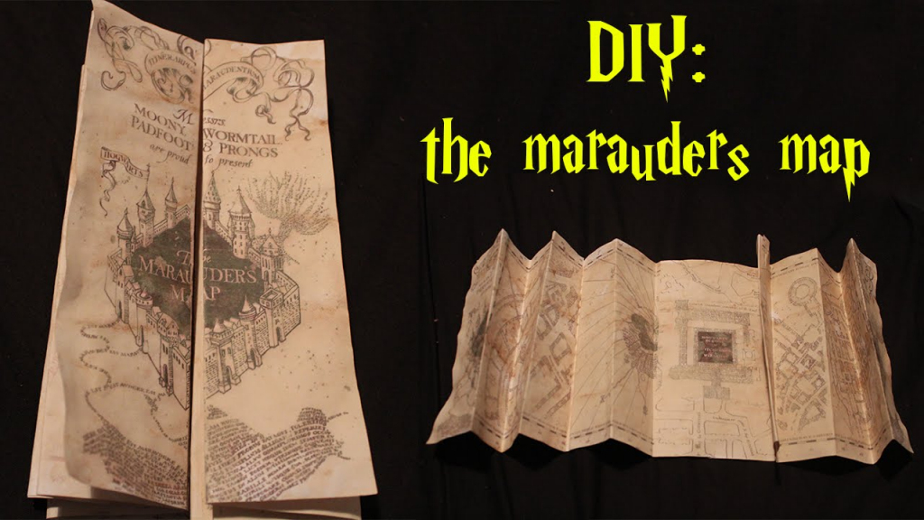 Diy: Marauders Map! - Youtube intended for Marauders Map Printable