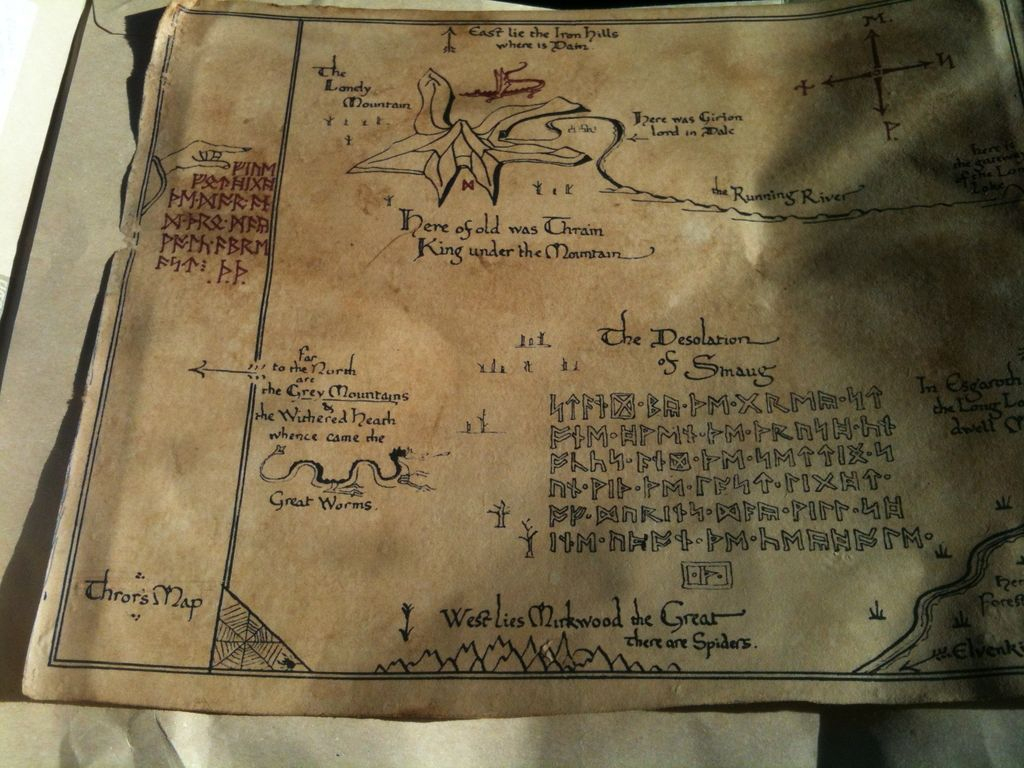 Diy Thrors' Map: 6 Steps in Thror's Map Printable