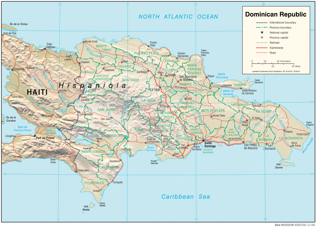 Dominican Republic Maps - Perry-Castañeda Map Collection - Ut inside Printable Map Of Dominican Republic