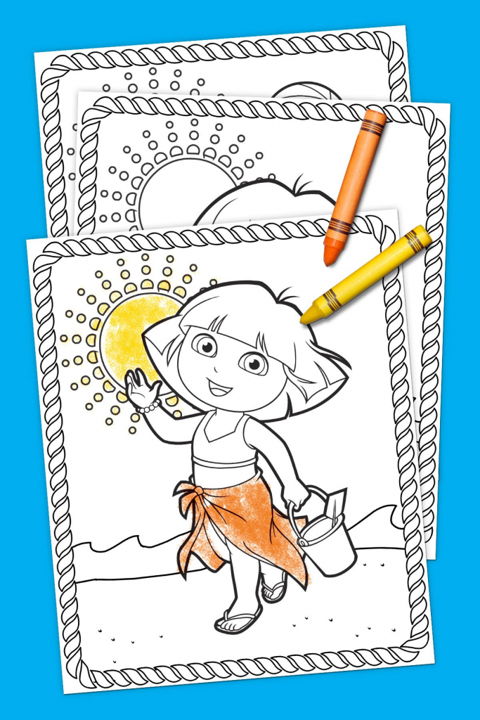 Dora Summertime Coloring Pack | Coloring Pages | Pinterest | 6Th in Dora Map Printable
