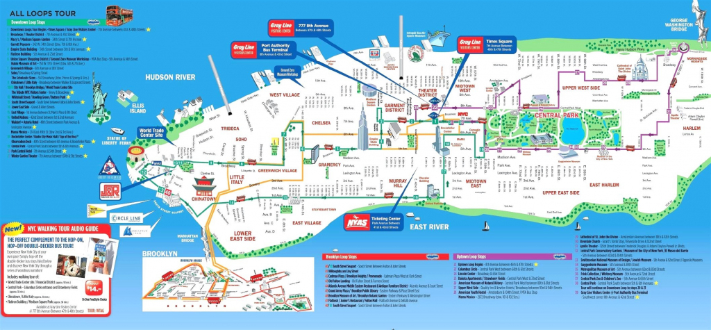 Download Manhattan Attractions Map Major Tourist Maps At Of New York within Manhattan Map With Attractions Printable
