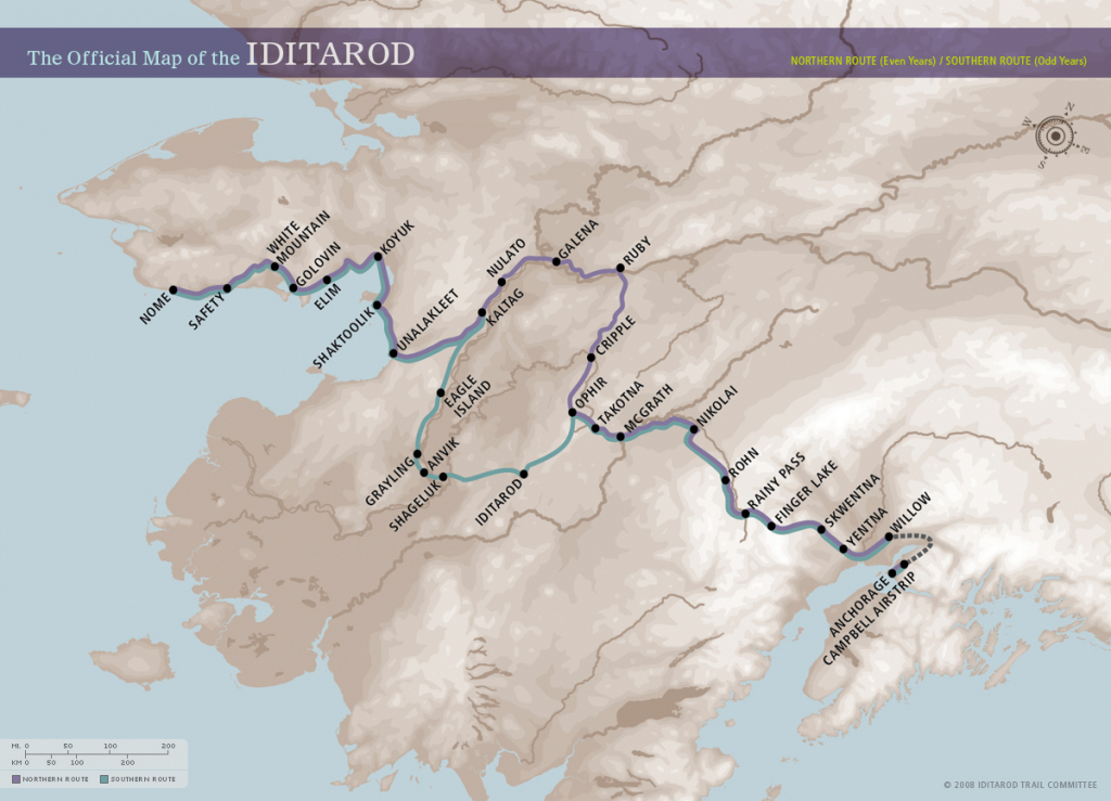Download, Print, And Use These Maps With Students. – Iditarod intended for Printable Iditarod Trail Map