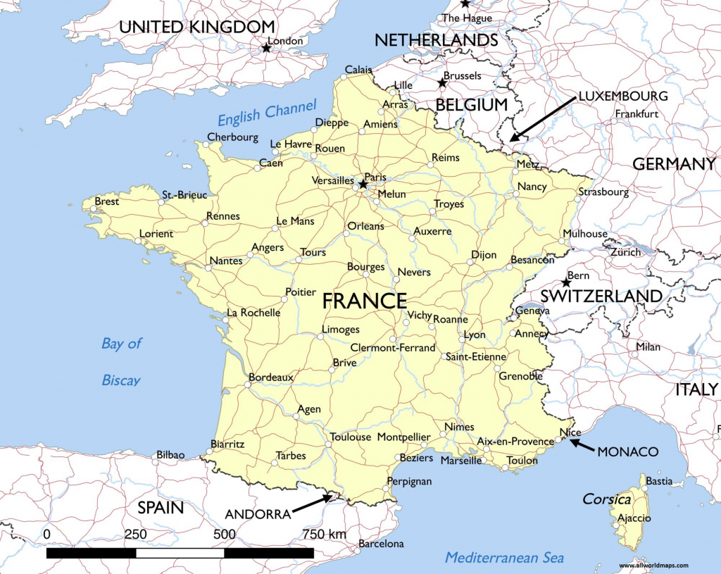 Download Printable Map Of France With Cities | All World Maps in Printable Map Of France Regions