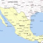 Download Printable Mexico Map With Cities And States | All World Maps Pertaining To Printable Map Of Mexico
