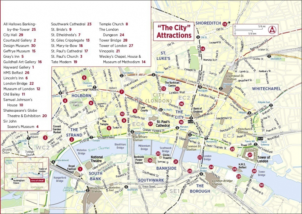 Download Sightseeing Map Of London Major Tourist Attractions At with regard to London Sightseeing Map Printable