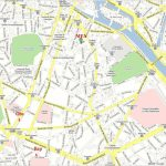 Download Street Map Paris France Major Tourist Attractions Maps And For Street Map Of Paris France Printable