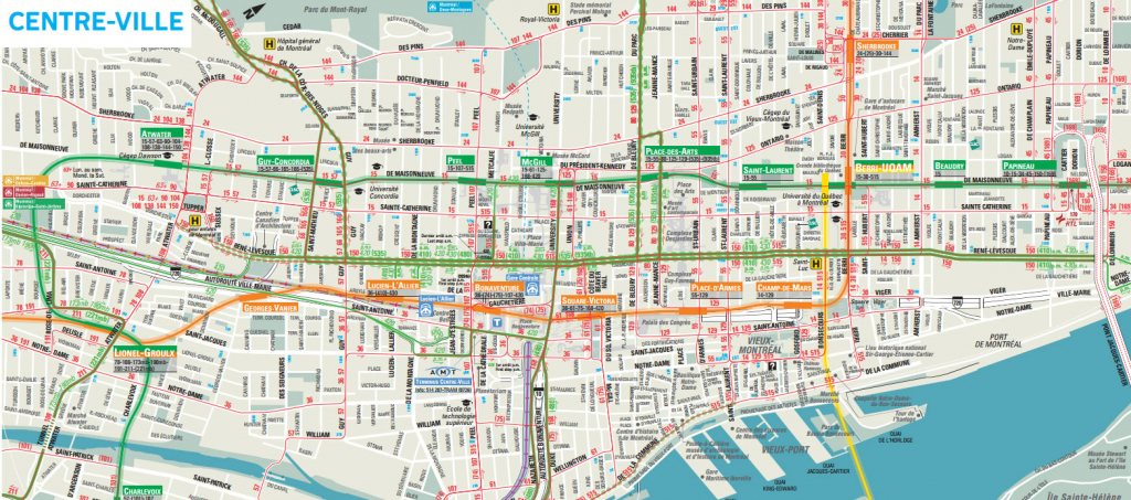 Downtown Montreal Map - Montreal Travel Guide with Printable Map Of Downtown Montreal