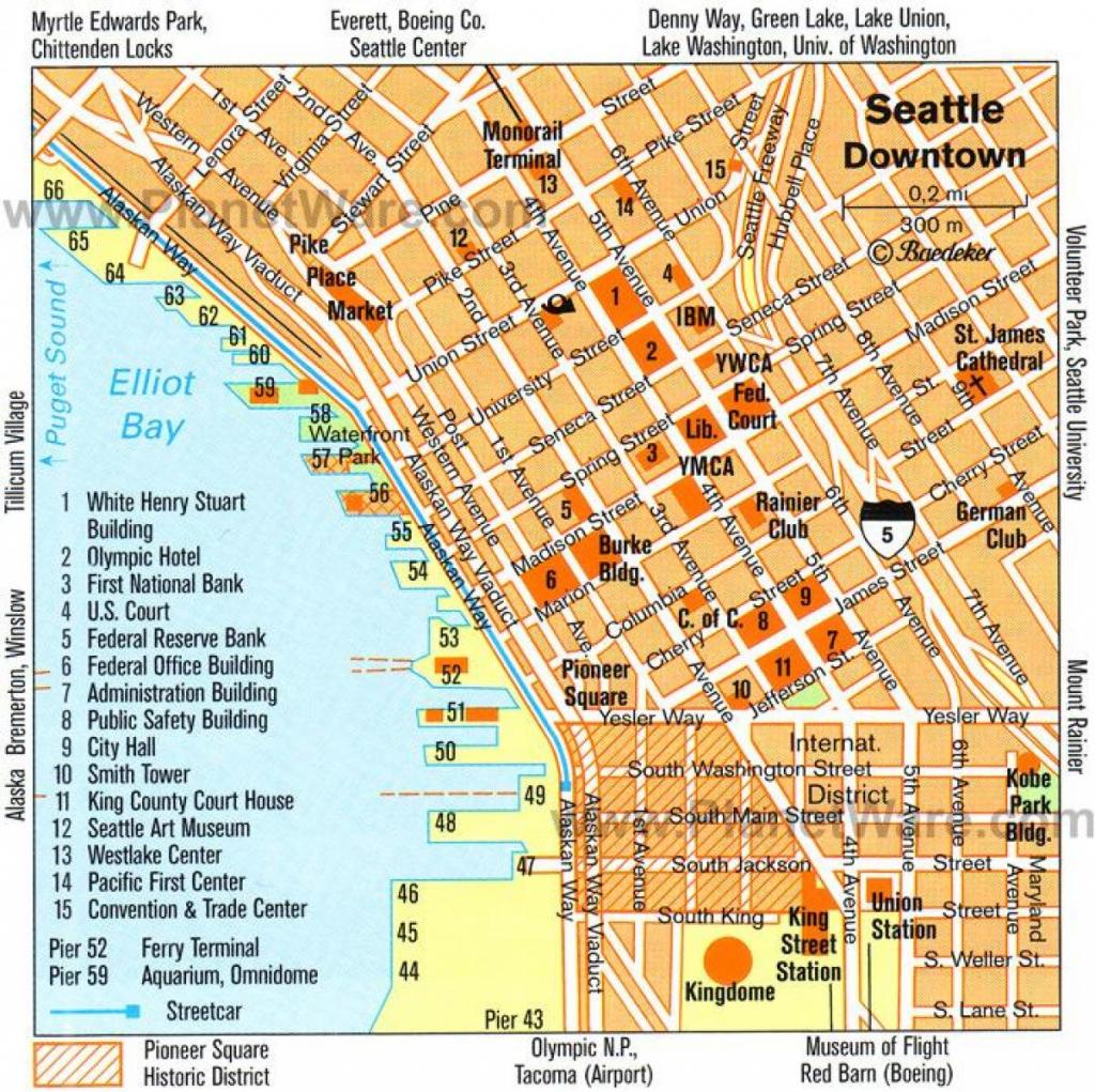 Downtown Seattle Walking Map - Walking Map Of Downtown Seattle intended for Printable Map Of Downtown Seattle