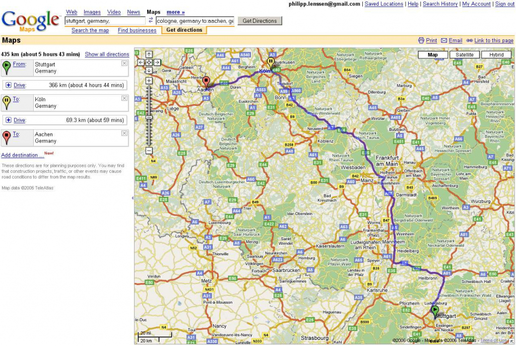 Driving Map Directions Download Driving Directions From Google Maps in Printable Driving Directions Google Maps