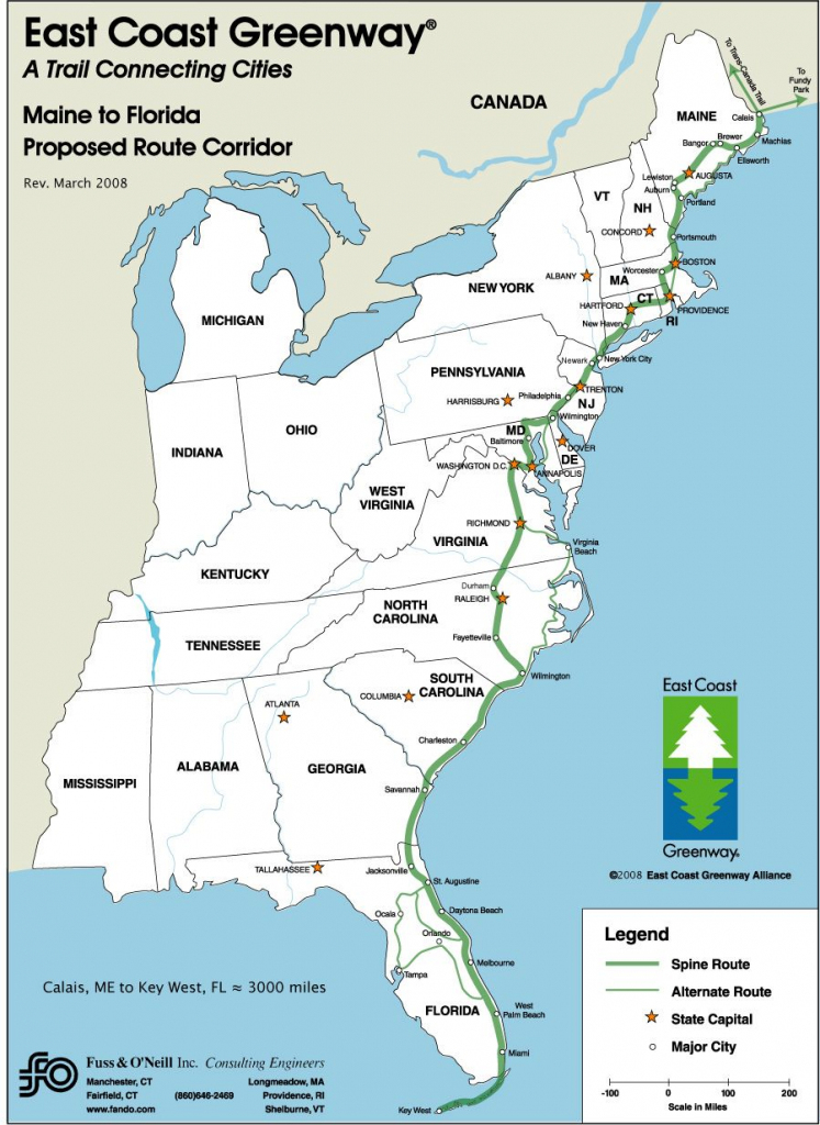 Driving Map Of East Coast | 26: Some Of The Benefits To Having A pertaining to Printable Map Of East Coast