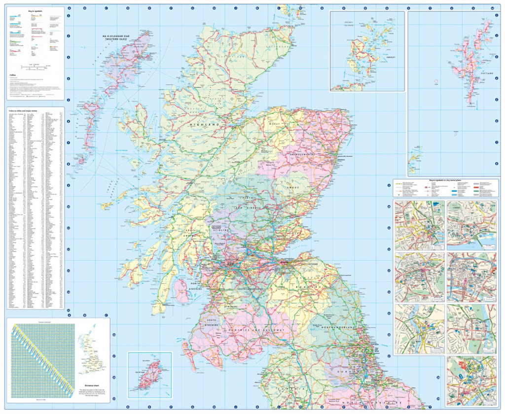 Driving Map Of Scotland And Travel Information | Download Free pertaining to Printable Road Map Of Scotland