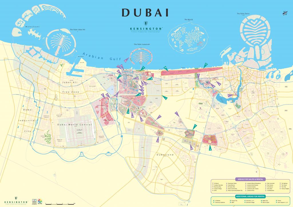 Dubai City Map in Printable Map Of Dubai