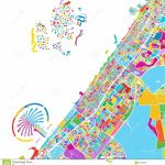 Dubai Colorful Vector Map Stock Vector. Illustration Of Pins   87676812 For Printable Map With Pins