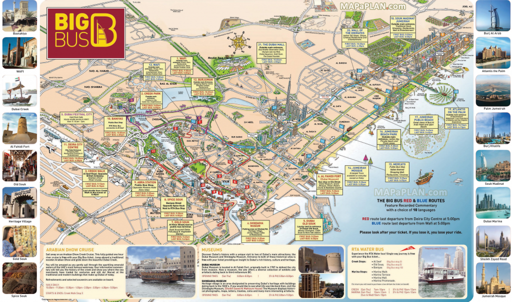 Dubai Maps - Top Tourist Attractions - Free, Printable City Street Map with Dubai Tourist Map Printable