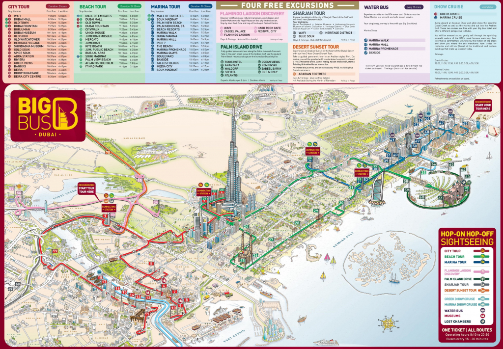 Dubai Tourist Attractions Map with regard to Printable Map Of Dubai