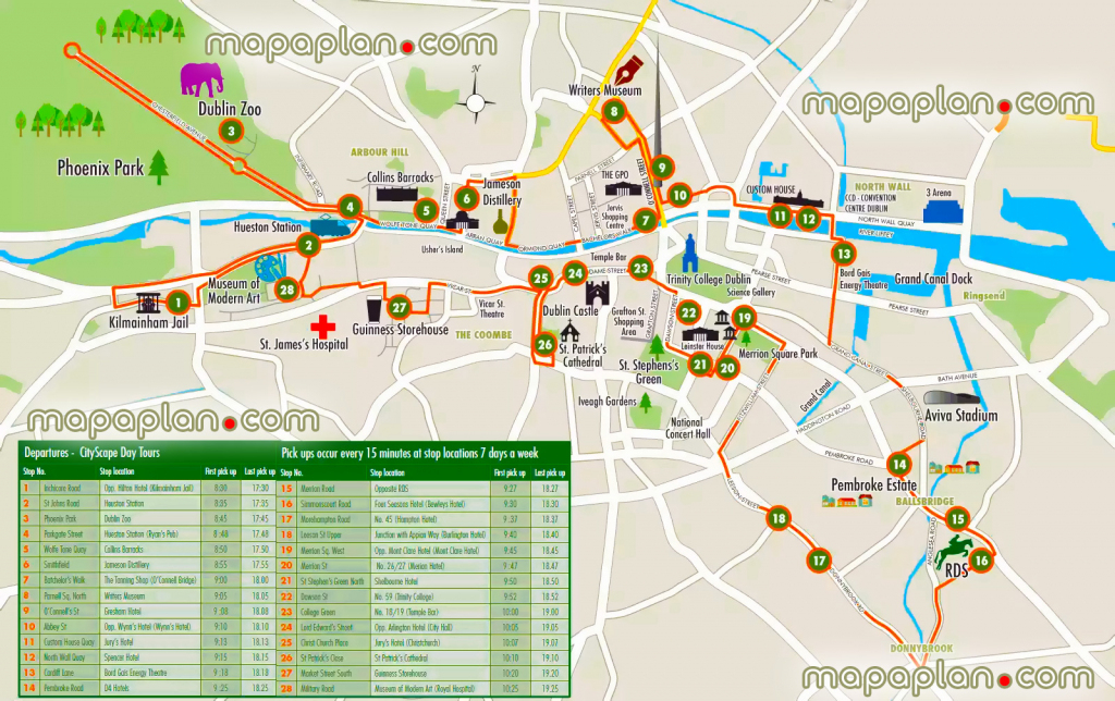 Dublin Maps - Top Tourist Attractions - Free, Printable City Street regarding Printable Map Of Dublin