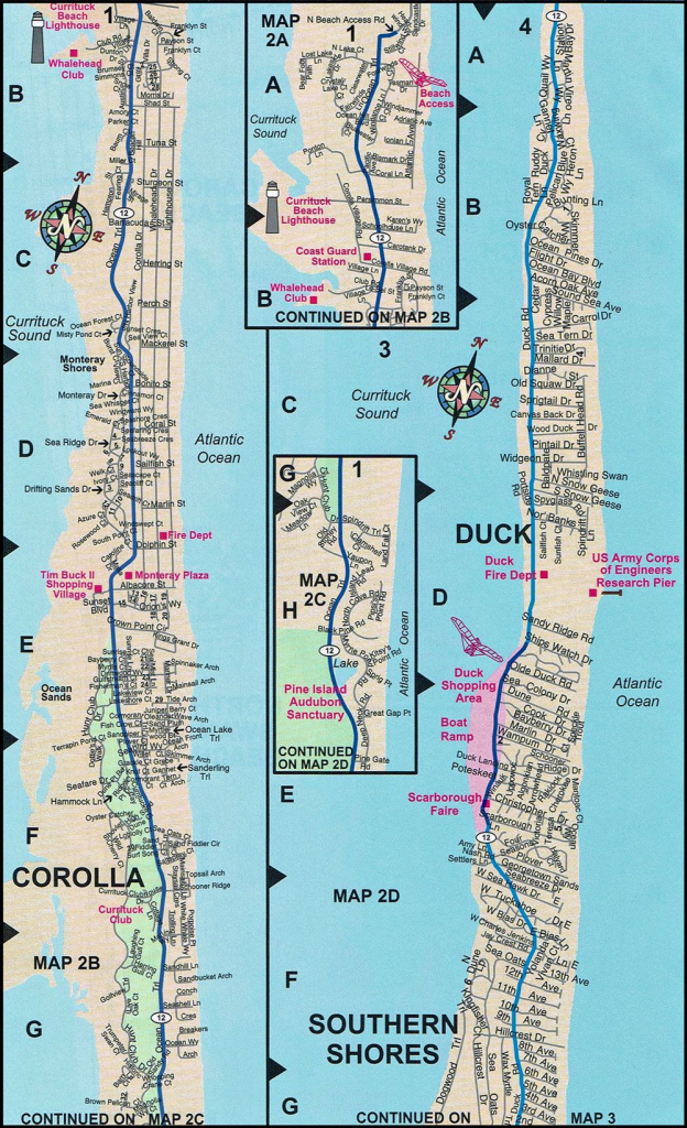 Duck Map | Duck Nc Map | Outer Banks | Street Maps | Obxconsulting within Printable Map Of Outer Banks Nc