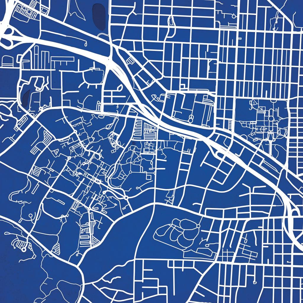 Duke University Campus Map Art - The Map Shop throughout Duke University Campus Map Printable