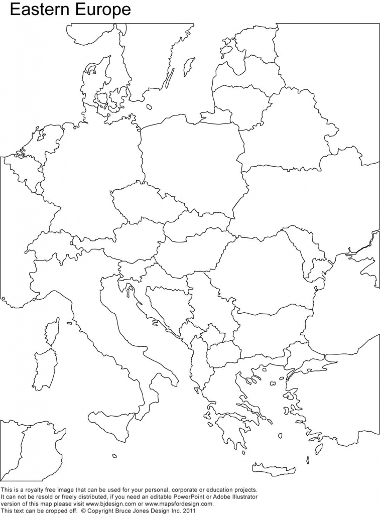 Eastern Europe Printable Blank Map, Royalty Free, Country Borders within Printable Blank Map Of Europe