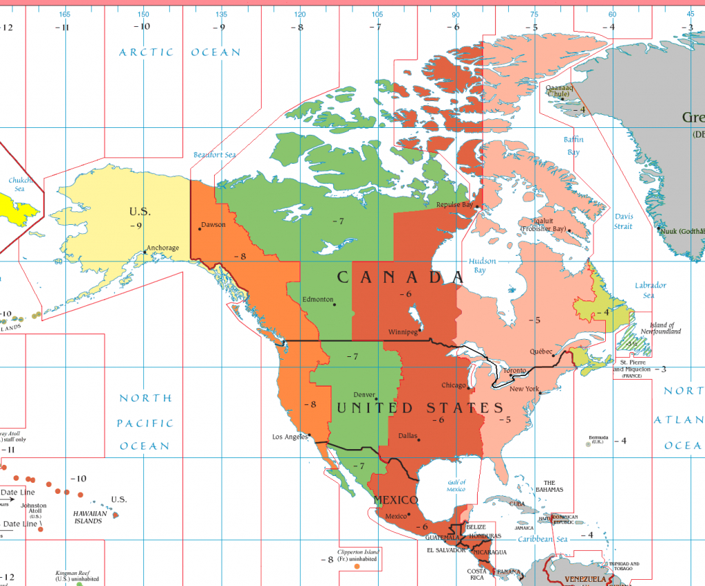 Eastern Time Zone - Wikipedia inside Printable North America Time Zone Map