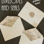 Easy Map Lined Envelopes And Matching Seals | Letter Writing | Free in Maps For Wedding Invitations Free Printable